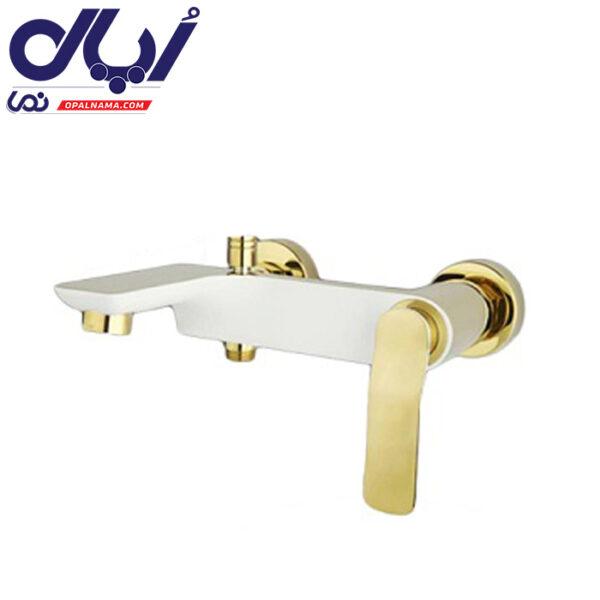 شیر حمام ویولت سفید طلا راسان